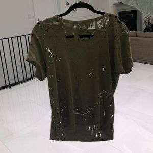 Chaser olive green t-shirt with studs